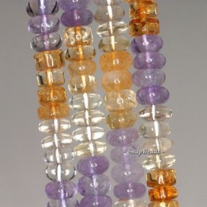 Shop Quartz Crystal Rondelle Beads! 8x5mm Mix Quartz Gemstone Rondelle Loose Beads 7.5 inch Half Strand LOT 1,2,6 and 12 (90144187-B31-558)   Natural genuine rondelle Quartz beads for beading and jewelry making.  #jewelry #beads #beadedjewelry #diyjewelry #jewelrymaking #beadstore #beading #affiliate #ad