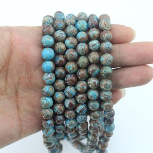 Shop Rainforest Jasper Beads! 36mm,8mm,10mm Natural Blue Brown Jasper beads,Rainforest Jasper beads,Loose beads,Gemstone Beads,jewelry making beads –15-16 inches-EB345 | Natural genuine other-shape Rainforest Jasper beads for beading and jewelry making.  #jewelry #beads #beadedjewelry #diyjewelry #jewelrymaking #beadstore #beading #affiliate #ad
