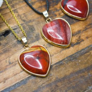 Red Jasper Heart Necklace Polished Jewellery Silver Natural Crystal Healing Red Heart Pendant Birthday Gift July Cancer Leo Zodiac | Natural genuine Gemstone pendants. Buy crystal jewelry, handmade handcrafted artisan jewelry for women.  Unique handmade gift ideas. #jewelry #beadedpendants #beadedjewelry #gift #shopping #handmadejewelry #fashion #style #product #pendants #affiliate #ad