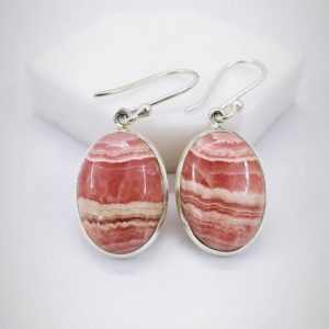 Rhodochrosite Earring, 925 Sterling Silver Earring, Handmade Earring, Christmas Gift, Thanksgiving Gift, Women's Earring, Free Shipping. | Natural genuine Rhodochrosite earrings. Buy crystal jewelry, handmade handcrafted artisan jewelry for women.  Unique handmade gift ideas. #jewelry #beadedearrings #beadedjewelry #gift #shopping #handmadejewelry #fashion #style #product #earrings #affiliate #ad