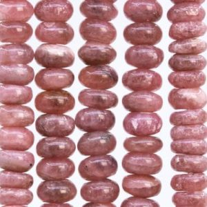 Shop Rhodochrosite Rondelle Beads! 51 Pcs – 6x4MM Gray Pink Rhodochrosite Beads Argentina Grade A+ Genuine Natural Rondelle Gemstone Loose Beads (115499) | Natural genuine rondelle Rhodochrosite beads for beading and jewelry making.  #jewelry #beads #beadedjewelry #diyjewelry #jewelrymaking #beadstore #beading #affiliate #ad