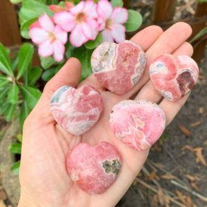Shop Rhodochrosite Shapes! 28-40 grams High Quality Rhodochrosite Heart, Rhodochrosite Puffy Heart, Grade AA Rhodochrosite, Small Rhodochrosite   Natural genuine stones & crystals in various shapes & sizes. Buy raw cut, tumbled, or polished gemstones for making jewelry or crystal healing energy vibration raising reiki stones. #crystals #gemstones #crystalhealing #crystalsandgemstones #energyhealing #affiliate #ad