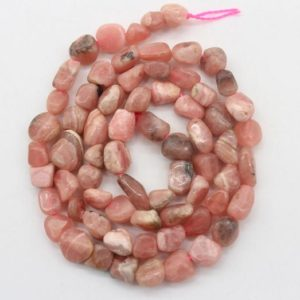 Shop Rhodonite Chip & Nugget Beads! 5-7mm Nugget  Pink Rhodonite beads,Irregular Pink Gemstone beads,Loose natural rhodonite beads,Jewelry beads-16 -NST1220-12   Natural genuine chip Rhodonite beads for beading and jewelry making.  #jewelry #beads #beadedjewelry #diyjewelry #jewelrymaking #beadstore #beading #affiliate #ad
