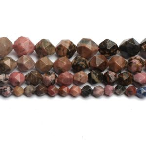 Shop Rhodonite Chip & Nugget Beads! Black Rhodonite Faceted Beads, Natural Gemstone Beads, Nugget Stone Beads, 6mm 8mm 10mm 12mm   Natural genuine chip Rhodonite beads for beading and jewelry making.  #jewelry #beads #beadedjewelry #diyjewelry #jewelrymaking #beadstore #beading #affiliate #ad