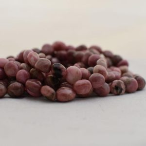 """Shop Rhodonite Chip & Nugget Beads! High Quality Grade A Natural Rhodonite Semi-precious Gemstone Pebble Tumbled Stone Nugget Beads Approx 7mm-10mm – 15"""" Strand   Natural genuine chip Rhodonite beads for beading and jewelry making.  #jewelry #beads #beadedjewelry #diyjewelry #jewelrymaking #beadstore #beading #affiliate #ad"""