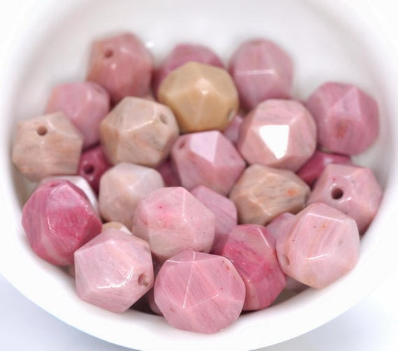 """6mm Rhodonite Beads Pink Star Cut Faceted Grade Aaa Genuine Natural Gemstone Loose Beads 14.5"""" Lot 1,3,5,10 And 50 (80005216-m21)"""