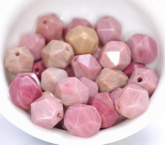 """8mm Rhodonite Beads Pink Star Cut Faceted Grade Aaa Genuine Natural Gemstone Loose Beads 14.5"""" Lot 1,3,5,10 And 50 (80005217-m21)"""