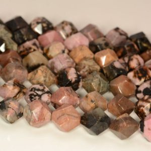 """Shop Rhodonite Faceted Beads! 8MMFlower Rhodonite Beads Star Cut Faceted Grade AAA Genuine Natural Gemstone Loose Beads 7.5"""" BULK LOT 1,3,5,10 and 50 (80010252 H-M26 A) 
