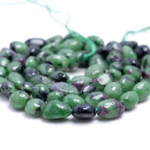 Shop Ruby Zoisite Chip & Nugget Beads! 5-6MM  Ruby Zoisite Gemstone Pebble Nugget Granule Loose Beads 7.5 inch Half Strand (80001931 H-A33)   Natural genuine chip Ruby Zoisite beads for beading and jewelry making.  #jewelry #beads #beadedjewelry #diyjewelry #jewelrymaking #beadstore #beading #affiliate #ad