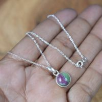 Ruby Zoisite 925 Sterling Silver Round Shape Gemstone Jewelry Pendant W / Or W / o Chain   Natural genuine Gemstone jewelry. Buy crystal jewelry, handmade handcrafted artisan jewelry for women.  Unique handmade gift ideas. #jewelry #beadedjewelry #beadedjewelry #gift #shopping #handmadejewelry #fashion #style #product #jewelry #affiliate #ad