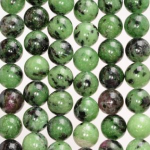 Shop Ruby Zoisite Round Beads! 6mm Ruby Zoisite Gemstone Green Red Grade A Round Loose Beads 15.5 inch Full Strand (80000364-783) | Natural genuine round Ruby Zoisite beads for beading and jewelry making.  #jewelry #beads #beadedjewelry #diyjewelry #jewelrymaking #beadstore #beading #affiliate #ad