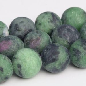 Shop Ruby Zoisite Round Beads! Matte Ruby Zoisite Beads Grade AA Genuine Natural Gemstone Round Loose Beads 4/6/8/10/12MM Bulk Lot Options | Natural genuine round Ruby Zoisite beads for beading and jewelry making.  #jewelry #beads #beadedjewelry #diyjewelry #jewelrymaking #beadstore #beading #affiliate #ad