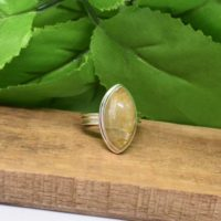 Golden Rutilated Quartz Ring, 925 Sterling Silver, Marquise Gemstone Jewelry, Golden Color Stone, Can Be Personalized, Natural Gemston | Natural genuine Gemstone jewelry. Buy crystal jewelry, handmade handcrafted artisan jewelry for women.  Unique handmade gift ideas. #jewelry #beadedjewelry #beadedjewelry #gift #shopping #handmadejewelry #fashion #style #product #jewelry #affiliate #ad