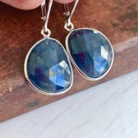 Blue Sapphire Earrings, September Birthstone, Dark Blue Sapphire Teardrop Earrings, Silver Navy Earrings, Sapphire Jewelry, Elegant Gift | Natural genuine Gemstone jewelry. Buy crystal jewelry, handmade handcrafted artisan jewelry for women.  Unique handmade gift ideas. #jewelry #beadedjewelry #beadedjewelry #gift #shopping #handmadejewelry #fashion #style #product #jewelry #affiliate #ad