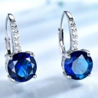 Sapphire Earring, 925 Sterling Silver Earring, Engagement & Wedding Earring, women Gift , clip Earrings, handmade Jewelry, silver Earrings | Natural genuine Gemstone jewelry. Buy handcrafted artisan wedding jewelry.  Unique handmade bridal jewelry gift ideas. #jewelry #beadedjewelry #gift #crystaljewelry #shopping #handmadejewelry #wedding #bridal #jewelry #affiliate #ad