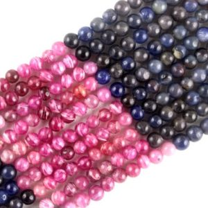 """Shop Sapphire Round Beads! 16"""" Long Natural Multi Sapphire Round Smooth Beads, 4.5-5 MM , Sapphire Gemstone, Smooth Round Balls, Making Jewelry, Wholesale Price 