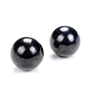 Shop Shungite Shapes! 40MM 100% Natural Smooth Russian Shungite Anti Radiation High Carbon  Grade AAA Sphere Ball 1 Bead (80008561-D49)   Natural genuine stones & crystals in various shapes & sizes. Buy raw cut, tumbled, or polished gemstones for making jewelry or crystal healing energy vibration raising reiki stones. #crystals #gemstones #crystalhealing #crystalsandgemstones #energyhealing #affiliate #ad