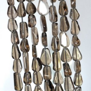 Shop Smoky Quartz Chip & Nugget Beads! 7×5-11x6mm Smoky Quartz Gemstone Pear Nugget Loose Beads 14 inch Full Strand (90184876-894)   Natural genuine chip Smoky Quartz beads for beading and jewelry making.  #jewelry #beads #beadedjewelry #diyjewelry #jewelrymaking #beadstore #beading #affiliate #ad