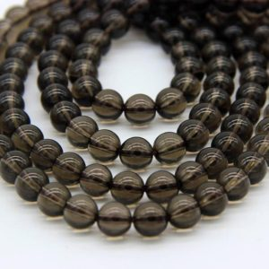 Natural Smoky Quartz Beads 4 6 8 10 12mm A Quality Smoky Beads Brown Gemstone Beads Smoky Quartz Mala Beads Smoky Crystal Mala Beads | Natural genuine other-shape Smoky Quartz beads for beading and jewelry making.  #jewelry #beads #beadedjewelry #diyjewelry #jewelrymaking #beadstore #beading #affiliate #ad