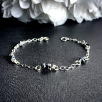 Snowflake Obsidian Black Obsidian Crystal Bracelet | Natural genuine Gemstone jewelry. Buy crystal jewelry, handmade handcrafted artisan jewelry for women.  Unique handmade gift ideas. #jewelry #beadedjewelry #beadedjewelry #gift #shopping #handmadejewelry #fashion #style #product #jewelry #affiliate #ad