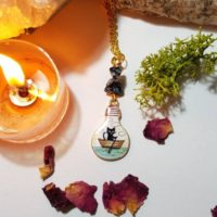 Gold Plated Snowflake Obsidian Cat Necklace – Meditation – Grounding | Natural genuine Gemstone jewelry. Buy crystal jewelry, handmade handcrafted artisan jewelry for women.  Unique handmade gift ideas. #jewelry #beadedjewelry #beadedjewelry #gift #shopping #handmadejewelry #fashion #style #product #jewelry #affiliate #ad