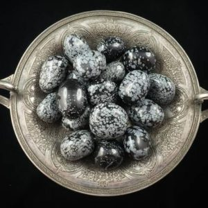 Shop Snowflake Obsidian Stones & Crystals! Large Snowflake Obsidian Tumbles – American Seller – Fast Shipping! | Natural genuine stones & crystals in various shapes & sizes. Buy raw cut, tumbled, or polished gemstones for making jewelry or crystal healing energy vibration raising reiki stones. #crystals #gemstones #crystalhealing #crystalsandgemstones #energyhealing #affiliate #ad