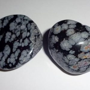 Shop Tumbled Snowflake Obsidian Crystals & Pocket Stones! Snowflake Obsidian Tumbled & Polished Gemstone Crystal Healing Collectible, Wicca, Reiki ,Pocket or Wrapping Stones 2pc set   Natural genuine stones & crystals in various shapes & sizes. Buy raw cut, tumbled, or polished gemstones for making jewelry or crystal healing energy vibration raising reiki stones. #crystals #gemstones #crystalhealing #crystalsandgemstones #energyhealing #affiliate #ad