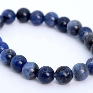 Shop Sodalite Bracelets! 22 Pcs – 8MM Sodalite Beads Bracelet Grade AAA Genuine Natural Round Gemstone (106609h-2018) | Natural genuine Sodalite bracelets. Buy crystal jewelry, handmade handcrafted artisan jewelry for women.  Unique handmade gift ideas. #jewelry #beadedbracelets #beadedjewelry #gift #shopping #handmadejewelry #fashion #style #product #bracelets #affiliate #ad