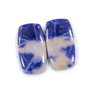 Shop Sodalite Cabochons! Finest Quality 14*25 MM Sodalite Earring Pair/ Cushion Cut Sodalite Pair For Earring/ 25.55 Cts Sodalite Flat Back Cabochon/ Blue Sodalite   Natural genuine stones & crystals in various shapes & sizes. Buy raw cut, tumbled, or polished gemstones for making jewelry or crystal healing energy vibration raising reiki stones. #crystals #gemstones #crystalhealing #crystalsandgemstones #energyhealing #affiliate #ad