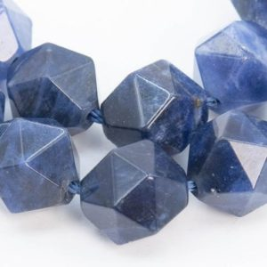 Shop Sodalite Faceted Beads! 37 / 18 Pcs – 9-10MM Sodalite Beads Star Cut Faceted Grade AAA Genuine Natural Gemstone Loose Beads (103708) | Natural genuine faceted Sodalite beads for beading and jewelry making.  #jewelry #beads #beadedjewelry #diyjewelry #jewelrymaking #beadstore #beading #affiliate #ad