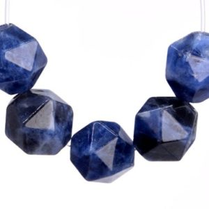 Shop Sodalite Faceted Beads! 46 / 23 Pcs – 7-8MM Blue Sodalite Beads Grade AAA Star Cut Faceted Genuine Natural Gemstone Loose Beads (102643) | Natural genuine faceted Sodalite beads for beading and jewelry making.  #jewelry #beads #beadedjewelry #diyjewelry #jewelrymaking #beadstore #beading #affiliate #ad