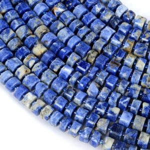 Shop Sodalite Bead Shapes! 10×8-10x4MM Sodalite Gemstone Cylinder Wheel Tube Loose Beads (S1) | Natural genuine other-shape Sodalite beads for beading and jewelry making.  #jewelry #beads #beadedjewelry #diyjewelry #jewelrymaking #beadstore #beading #affiliate #ad