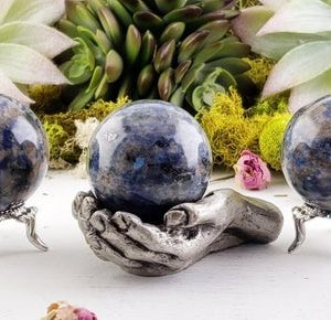 Shop Sodalite Shapes! Sodalite Gemstone Polished 40mm Orb Sphere | Natural genuine stones & crystals in various shapes & sizes. Buy raw cut, tumbled, or polished gemstones for making jewelry or crystal healing energy vibration raising reiki stones. #crystals #gemstones #crystalhealing #crystalsandgemstones #energyhealing #affiliate #ad