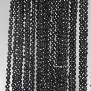 Shop Spinel Beads! 3mm Black Spinel Gemstone Grade Aaa Black Round Loose Beads 15.5 Inch Full Strand (90189225-107) | Natural genuine beads Spinel beads for beading and jewelry making.  #jewelry #beads #beadedjewelry #diyjewelry #jewelrymaking #beadstore #beading #affiliate #ad