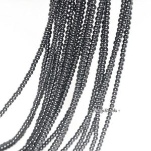 Shop Spinel Round Beads! Free Usa Ship 2mm Blackjack Black Spinel Gemstone Round 2mm Loose Beads 16 Inch Full Strand Lot 1, 2, 6, 12 And 50 (90113424-107 – 2mm C) | Natural genuine round Spinel beads for beading and jewelry making.  #jewelry #beads #beadedjewelry #diyjewelry #jewelrymaking #beadstore #beading #affiliate #ad