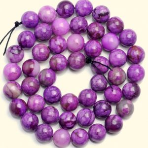 Shop Sugilite Beads! 10 Strands 4mm Sugilite Gemstone Purple Violet Round Loose Beads 15.5 Inch Full Strand Bulk Lot (90182787-778 X10) | Natural genuine round Sugilite beads for beading and jewelry making.  #jewelry #beads #beadedjewelry #diyjewelry #jewelrymaking #beadstore #beading #affiliate #ad