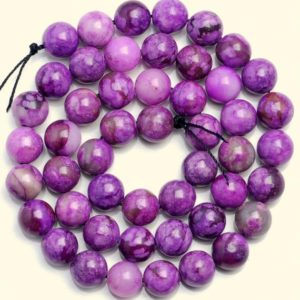 Shop Sugilite Beads! 10 Strands 8mm Purple Sugilite Gemstone Round Loose Beads 15 Inch Full Strand Bulk Lot (90184726-842 X10) | Natural genuine round Sugilite beads for beading and jewelry making.  #jewelry #beads #beadedjewelry #diyjewelry #jewelrymaking #beadstore #beading #affiliate #ad