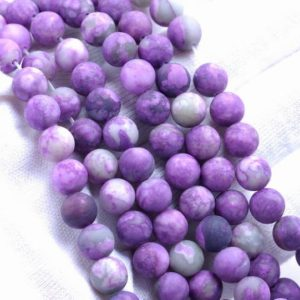 Shop Sugilite Beads! 4MM Matte Sugilite Gemstone Round Loose Beads 15 inch Full Strand (80002206-M13) | Natural genuine round Sugilite beads for beading and jewelry making.  #jewelry #beads #beadedjewelry #diyjewelry #jewelrymaking #beadstore #beading #affiliate #ad