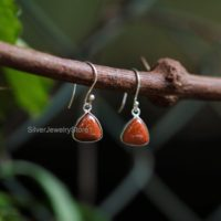 Sunstone Earrings, 925 Sterling Silver Earring, Gemstone Earrings, Sunstone 10x10mm Trillion Shape Earrings, Women Earrings, andmade Jewelry | Natural genuine Gemstone jewelry. Buy crystal jewelry, handmade handcrafted artisan jewelry for women.  Unique handmade gift ideas. #jewelry #beadedjewelry #beadedjewelry #gift #shopping #handmadejewelry #fashion #style #product #jewelry #affiliate #ad