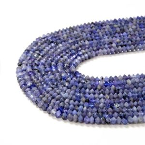 Shop Tanzanite Faceted Beads! 4x3MM  Tanzanite Gemstone Grade AAA Bicone Faceted Rondelle Saucer Loose Beads (P2)   Natural genuine faceted Tanzanite beads for beading and jewelry making.  #jewelry #beads #beadedjewelry #diyjewelry #jewelrymaking #beadstore #beading #affiliate #ad
