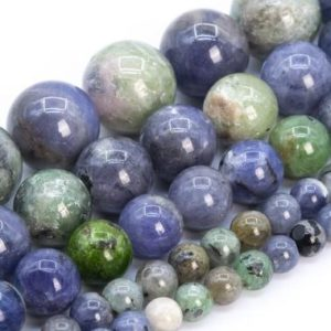 Rare Green Blue Tanzanite Beads Grade A Genuine Natural Gemstone Round Loose Beads 4-5MM 6MM 9MM 11MM 13-14MM | Natural genuine round Gemstone beads for beading and jewelry making.  #jewelry #beads #beadedjewelry #diyjewelry #jewelrymaking #beadstore #beading #affiliate #ad