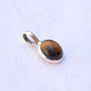 Shop Tiger Eye Pendants! Tiger's Eye Silver Pendant, 925 Sterling Silver Jewelry, Oval Shape, Silver Pendant, Handmade Silver Pendant, Gift For Her, P 59 | Natural genuine Tiger Eye pendants. Buy crystal jewelry, handmade handcrafted artisan jewelry for women.  Unique handmade gift ideas. #jewelry #beadedpendants #beadedjewelry #gift #shopping #handmadejewelry #fashion #style #product #pendants #affiliate #ad