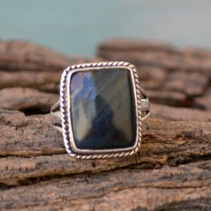 Shop Tiger Eye Rings! Natural Blue Tiger Eye Gemstone Ring, 925 Sterling Silver Ring, Bezel Set Designer Ring, Cushion Cab Tiger Eye Ring, Birthstone Gift Ring   Natural genuine Tiger Eye rings, simple unique handcrafted gemstone rings. #rings #jewelry #shopping #gift #handmade #fashion #style #affiliate #ad