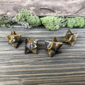 Shop Tiger Eye Stones & Crystals! Tigers Eye Crystal Merkaba 20mm | Natural genuine stones & crystals in various shapes & sizes. Buy raw cut, tumbled, or polished gemstones for making jewelry or crystal healing energy vibration raising reiki stones. #crystals #gemstones #crystalhealing #crystalsandgemstones #energyhealing #affiliate #ad