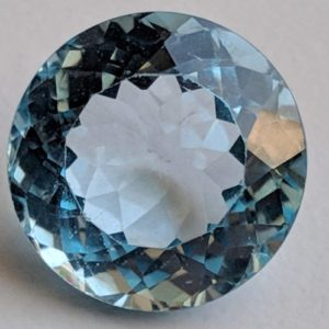 Shop Topaz Round Beads! 14.1mm Blue Topaz Round Cut Stone, Natural Blue Topaz Brilliant Cut Stone, Loose Blue Topaz Pointed Back Stone, Topaz Solitaire For Ring | Natural genuine round Topaz beads for beading and jewelry making.  #jewelry #beads #beadedjewelry #diyjewelry #jewelrymaking #beadstore #beading #affiliate #ad