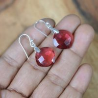 Tourmaline Quartz 925 Sterling Silver Hook Earring | Natural genuine Gemstone jewelry. Buy crystal jewelry, handmade handcrafted artisan jewelry for women.  Unique handmade gift ideas. #jewelry #beadedjewelry #beadedjewelry #gift #shopping #handmadejewelry #fashion #style #product #jewelry #affiliate #ad