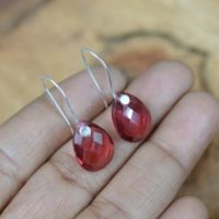 Tourmaline Quartz 925 Sterling Silver Drop Earring ~ Faceted Gemstone Jewelry   Natural genuine Gemstone jewelry. Buy crystal jewelry, handmade handcrafted artisan jewelry for women.  Unique handmade gift ideas. #jewelry #beadedjewelry #beadedjewelry #gift #shopping #handmadejewelry #fashion #style #product #jewelry #affiliate #ad
