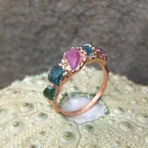 Shop Tourmaline Rings! Tourmaline birthstone ring tourmaline ring october birthday ring dainty gift ring   Natural genuine Tourmaline rings, simple unique handcrafted gemstone rings. #rings #jewelry #shopping #gift #handmade #fashion #style #affiliate #ad