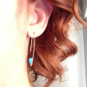 Shop Turquoise Earrings! Gold Filled Turquoise Tear Hoop Turquoise Earrings Turquoise Jewelry Gemstone Jewelry   Natural genuine Turquoise earrings. Buy crystal jewelry, handmade handcrafted artisan jewelry for women.  Unique handmade gift ideas. #jewelry #beadedearrings #beadedjewelry #gift #shopping #handmadejewelry #fashion #style #product #earrings #affiliate #ad
