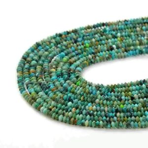 Shop Turquoise Faceted Beads! 2x1MM Genuine Turquoise Gemstone Grade AAA Bicone Faceted Rondelle Saucer Loose Beads (P1) | Natural genuine faceted Turquoise beads for beading and jewelry making.  #jewelry #beads #beadedjewelry #diyjewelry #jewelrymaking #beadstore #beading #affiliate #ad